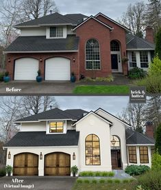 A beautiful home exterior can make or break curb appeal. We asked our professionals their top 14 curb appeal tips and some are so simple we had to share! Home Exterior Makeover, Exterior Remodel, Style At Home, Architecture Renovation, Before After Home, Apartment Decoration, House Makeovers, Home Repairs, Home Fashion