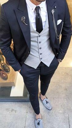 Gentleman Style 360569513921306139 - Source by chocolatnoel - suits men - Blazer Outfits Men, Mens Fashion Blazer, Stylish Mens Outfits, Suit Fashion, Men Blazer, Fashion Videos, Fashion Shoes For Men, Men's Fashion Tips, Fashion Pants