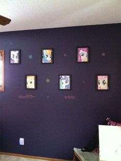 My Little Pony Bedroom Decor Hand Drawn Ponies