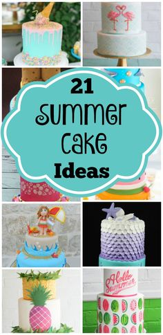 21 Sizzling Summer Birthday Cake Ideas | Summer parties are always the best – with hot sun, cool water, and lots of yummy treats! If you are needing a new idea for a summer birthday theme or just a summer party, check out these 21 Sizzling Summer Birthday Cake Ideas and let them inspire you!