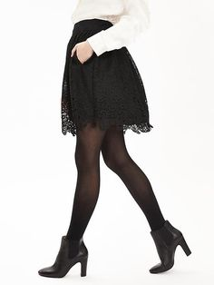 Heritage Lace Fit-and-Flare Skirt Product Image
