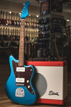 CME Exclusive Fender Classic Player Jazzmaster in Lake Placid Blue Used Guitars, Unique Guitars, Cheap Guitars, Fender Guitars, Vintage Guitars, Music Guitar, Guitar Amp, Cool Guitar, Playing Guitar
