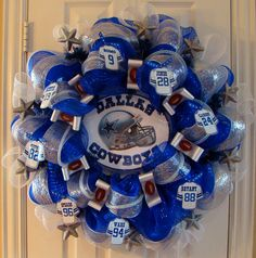 Dallas Cowboy Fan Wreath. $98.00, via Etsy.