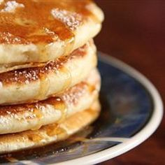 For fluffier pancakes, substitute milk for club soda.