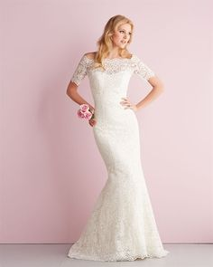 strapless lace with removable bolero. Allure Bridals: Style: 2700