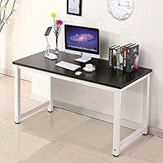 Wood Black Computer Desk PC Laptop Table Workstation #Shopping #Officefurniture #homeimprovement #HomeStyle