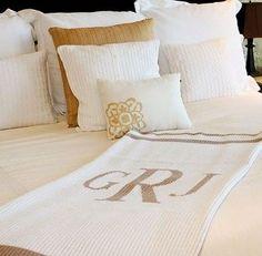 Classic Monogrammed Blanket