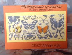 Orange butterfly SAB vellum
