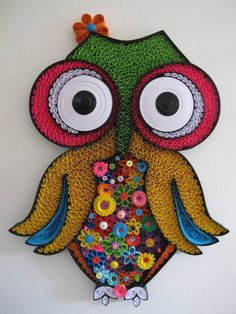 Quilled Owl - by: Unknown Quiller
