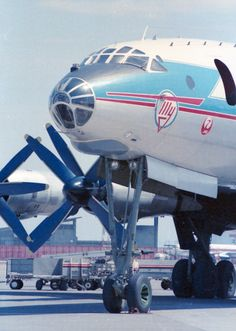 Aeroflot Soviet Airlines Tupolev Tu-114 operating Japan Airlines-Aeroflot Code