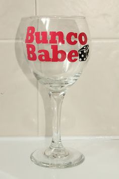 Bunco Wine Glass! Bunco winner prize?