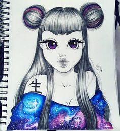 "842 Likes, 17 Comments - Christina Lorre (@rawsueshii) on Instagram: """"SPACE BUNZ"" on fleek  ~The best Is yet to come~ Tools Used✏: Canson Mixed Media Paper Pentel…"""