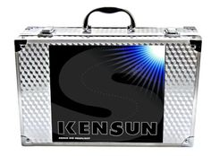 """Kensun HID Xenon Conversion Kit with """"Slim"""" Digital Ballasts - 9005 (HB3) - 6000k Plug-'n-Play - installs in 20 minutes or less (no wire-cutting or special skills required). 100% Water-proof, 100% Dust-proof, 100% Shock-proof. Included in kit: 2 Slim digital ballasts, 2 HID bulbs. Superb night-time visibility. Produces 2 to 3 times as much light as a halogen bulb."""