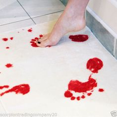 Blood-Bath-Mat-Creative-Thrilling-Holloween-Present-Floor-Door-Mat-Pad-Cushion