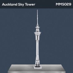 The Metal Earth Auckland Sky Tower models are amazingly detailed etched models that are fun and satisfying to assemble. Each model is made from a pair of completely flat laser-etched steel sheets. Tower Models, Metal Earth, Steel Sheet, Metal Models, Auckland, Southern, Sky, Christmas, Gifts