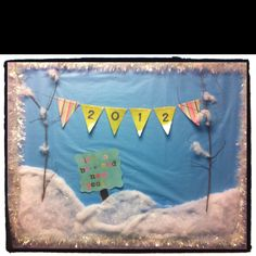 January bulletin board! It's a Brrrrrrrand New Year!