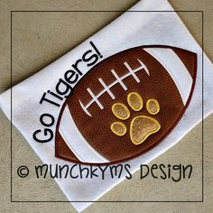 Hey, I found this really awesome Etsy listing at https://www.etsy.com/listing/163080583/football-applique