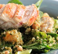 Quinoa and Chicken Salad with Orange Balsamic dressing - Tenina