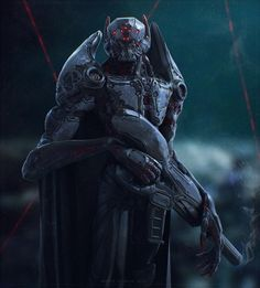 Cyborg vampire stands in the night. Alien Concept Art, Armor Concept, Weapon Concept Art, Futuristic Armour, Futuristic Art, Science Fiction, Mode Cyberpunk, Character Art, Character Design
