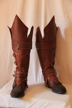 Leather boots (my personal version of Ezio boots) by HamraBDG on deviantART