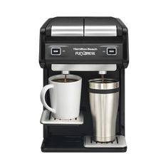Hamilton Beach - FlexBrew 2-Cup Coffeemaker - Black/silver, 49998