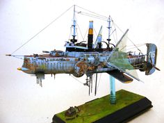 "Davion Alex : Steampunk Battleship ""Dawn Treader"""