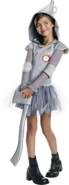 Girls Hooded Tin Man Tutu Costume - The Wizard of Oz - Party City