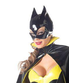 Another great find on #zulily! Black Shine Superhero Mask - Women #zulilyfinds