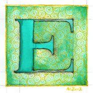 E is for Emboss (meer 'Illuminated alphabet', klik)