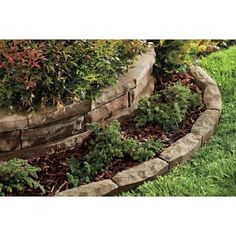 Chiseledge Ashland Straight Edging Stone (Common: x Actual: x at Lowe's. The Chiseledge edger is a complementary landscaping component to the classic Chiselwall® wall system. Three unique face patterns give the Chiseledge Landscaping With Rocks, Front Yard Landscaping, Landscaping Ideas, Backyard Ideas, Landscaping Borders, Florida Landscaping, Backyard Plants, Backyard Designs, Landscaping Company