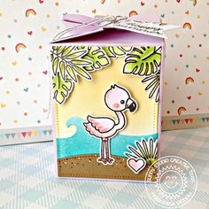 Sunny Studio Stamps Fabulous Flamingos 4x6 Clear Photopolymer Stamp New Darlings, Tiny Tags, Diy And Crafts, Paper Crafts, Sunnies Studios, Flamingo Gifts, Paper Smooches, Scrapbook Cards, Scrapbooking