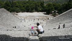 Con mi hija en #Epidauro #dad #daughter