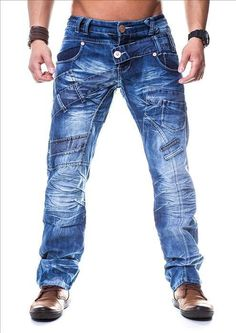 Kosmo Lupo KM070 Straight Cut Jeans