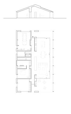 201318 all-electric schuurwoning New House Plans, Modern House Plans, Small House Plans, House Floor Plans, Arched Cabin, Piscina Interior, African House, Architectural Floor Plans, Long House