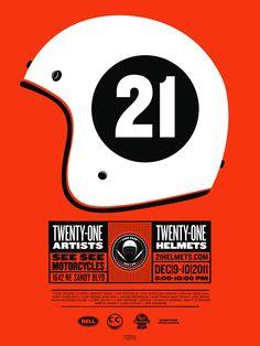 21 helmets poster
