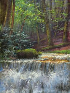 Tulliver Falls by Lisa Mitchell Pastel ~ 12 x 9