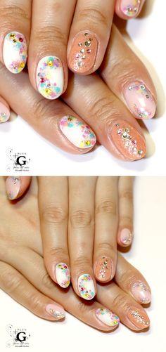 fluffy spring nail #plusG #nail #nailart #naildesign