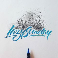 Awesome brush lettering and illustration by @mdemilan | #typegang if you would like to be featured | typegang.com http://typg.co/1pXeaDe | http://typegang.com