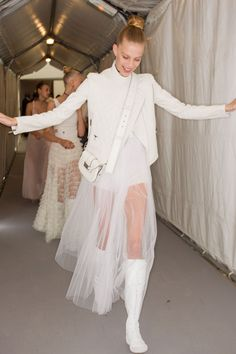 Christian Dior Spring 2017 Ready-to-Wear Fashion Show Backstage