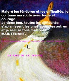 Pensées positives Améliore ton moral: J'avance avec courage !