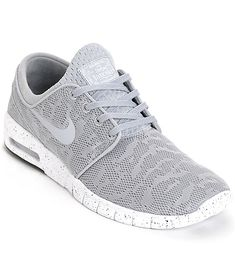 An iconic style with a new colorway, the Nike SB Stefan Janoski Max Wolf Grey & White Mesh Shoes are a comfortable and fashionable pair of kicks. The shoes are featured with a Max Air heel unit for shock absorption as well as a phylon midsole and EVA sock