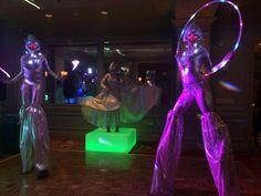 Our stilt artists are lighting up the night at Hotel Icon! LED props, Houston stilt walkers, J&D Entertainment www.jdentertain.com