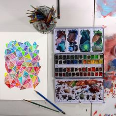 Watercolor Triangles by Josie Lewis