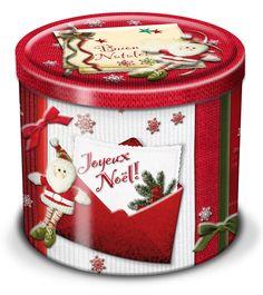 PANETONE CLASSICO LATA VERMELHO BALOCCO   Panetone tradicional acondicionado em uma bela lata decorativa com motivos natalinos, cor vermelha.    Peso líquido: 750g    Ingredientes: Farinha de trigo, uva passas, manteiga, clara de ovo, açúcar, fermento biológico, casca de laranja cristalizada, emulsificantes, sal, mel, leite em pó desnatado, extrato maltado de cevada. Pode conter traços de nozes, castanhas, amendoins e soja.    Origem: Itália.