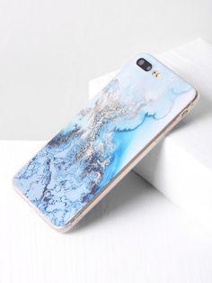 Blue Marble Print iPhone 7 Plus Case