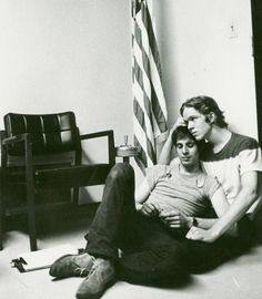 Members of the Gay Activists Alliance holding a sit-in at New York State Republican headquarters in New York City in 1970.