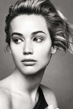 Jennifer Lawrence for Dior black and white