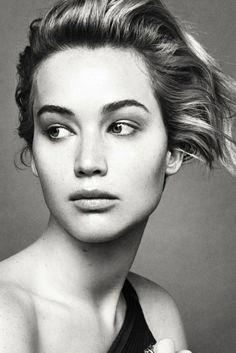 Jennifer Lawrence for Dior black and white