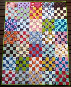 Red Pepper Quilts: 2010 Quilt Size: 51 inches x 66 inches Size of Squares: 3 inch squares (including seam allowances) Lap Quilts, Jellyroll Quilts, Scrappy Quilts, Strip Quilts, Quilting Tips, Quilting Projects, Quilting Designs, Quilt Design, Quilting Tutorials