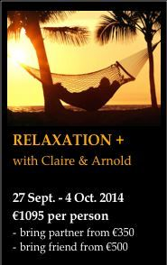 Relaxation+ - a retreat to give you the feel of a relaxing holiday whilst also inclusive of a coaching session to help support you in gaining clarity and direction in life!